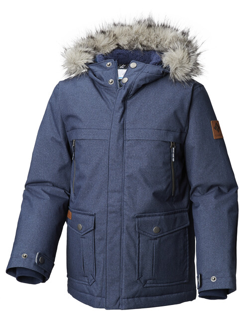 Columbia Barlow Pass 600 Turbo Down Jacket Youths Collegiate Navy Melange